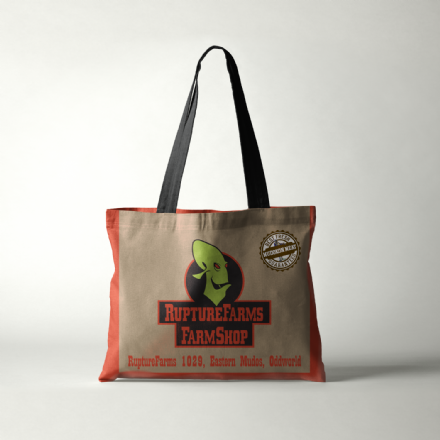 Oddworld Abes Oddysee Rupture Farms Farm Shop Tote Shopping Bag